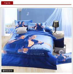 3D Blue Titanic bedding set queen size sheets quilt doona duvet cover double bedspreads bed in a bag  bedsheet linen 100% cotton #Affiliate