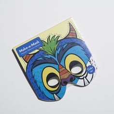 Let your imagination go wild with Make-a-Mask coloring books.