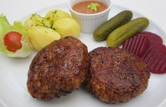 Danish frikadeller meat patties.These patties resemble mini meatloaves.Simple&delicious!