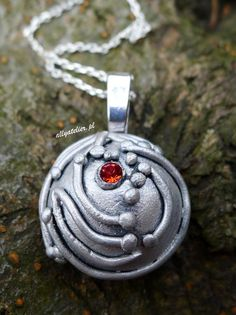 Elena Gilbert's necklace inspired by The Vampire Diaires. Hand-made, polymer clay.