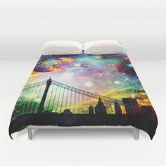 Galaxy Bridge Duvet Cover