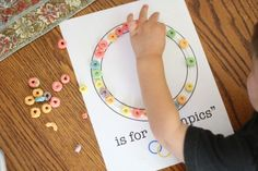 """O is for Olympics"" Craft & printable via @icanteachmychil"