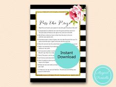 BS10B-pass-the-prize-black-stripes-pink-floral-chic-bridal-shower-game