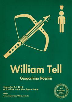 William Tell - minimalist poster designed by Douglas Menin