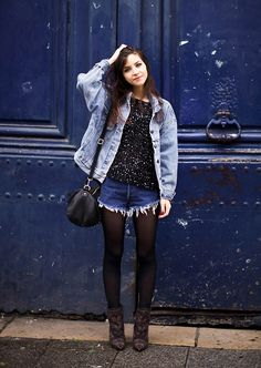 Bye 2012 (by Betty A) http://lookbook.nu/look/4407953-Bye-2-12 // relaxing and casual jean shorts