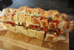 Bacon, Cheese pull apart bread
