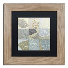 Color Bakery 'Leaf Story IV' Matted Framed Art