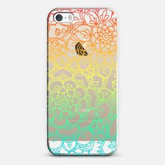 RAINBOW TRANSPARENT FLORAL DOODLE Phone Case | iPhone 5s | Casetify | Portrait | Graphics | Painting | Transparent  | Micklyn Le Feuvre