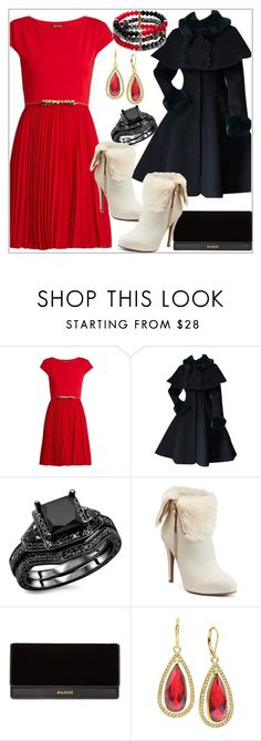 """Something Red"" by tlb0318 ❤ liked on Polyvore featuring MaxMara, Jennifer Lopez, Balmain, Anne Klein and New Directions"