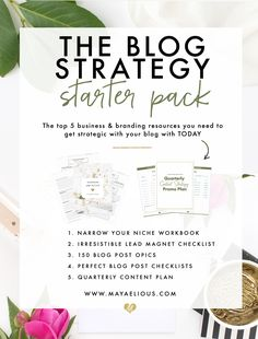 Wow this blog strategy start pack comes with hundreds of dollars worth of free materials for starting a blog. I am saving this pin for later. This is amazing!! I love everything Maya Elious does.