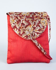 Silk Kalamkari Flap C90 Sling Bag