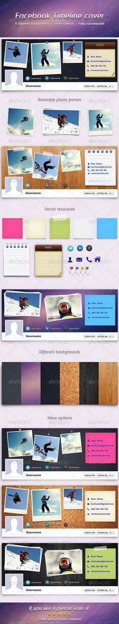 Facebook Timeline Cover — Photoshop PSD #website #social network • Download here → https://graphicriver.net/item/facebook-timeline-cover/2080938?ref=pxcr