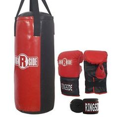 Champions of tomorrow are made today. The Ringside Youth Heavy Bag Kit comes with everything your young person needs to practice the sweet science and get an unbeatable workout in the process. Best Punching Bag, Heavy Punching Bag, Boxing Punching Bag, Kids Boxing, Sport Boxing, Sports Toys, Kids Bags, Boxing Workout