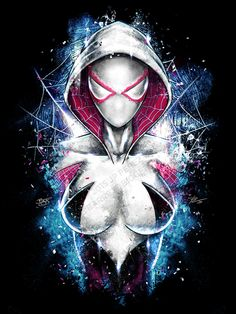 Epic Spider Gwen Inspired Portrait Poster Art