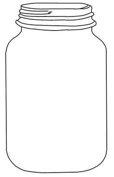 Mason Jar Printable: Use to create fingerprint lightning bug art for kids.: Mason Jar Printable: Use to create fingerprint lightning … Pot Mason Diy, Mason Jar Crafts, Mason Jars, Mason Jar Image, Templates Printable Free, Free Printables, Preschool Printables, Bfg Dream Jars, Art For Kids