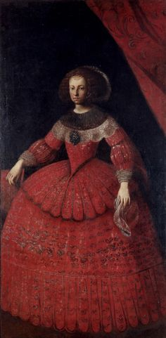 NUMBER 2 MARIANA OF AUSTRIA 1634-1696 (62y) second wife of Philip IV (daughter of Maria Anna of Austria (number 1) and Ferdinand III .Diego Rodriguez de Silva Velazquez  1649( Fine Arts  Museums of San Francisco . she was 31 when Felipe IV died. MARIANA AGE 15.