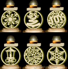Scroll Saw Patterns :: Lighted projects :: Candle holders & Luminaries :: Assorted votive candle or tea light stands -