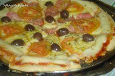 """Delícias da Priscila Beneducci: Pizza Caseira - """"Massa de Pizza Napolitana"""""""