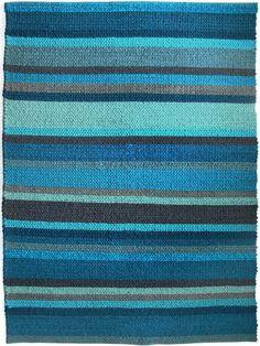 Rebecca-Judd-Deep-Sea-blue-we-are-home-decor-OH Rebecca Judd, Sea Texture, Green Lounge, Deep Sea, Wool Felt, Hand Weaving, Stripes, Pure Products, Rugs