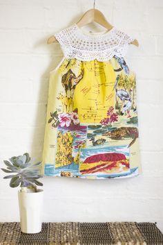 Australian Desert Doily Dress Size 3-4 $55 USD