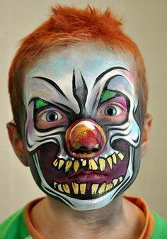 Tanya Maslova scary clown face painting design