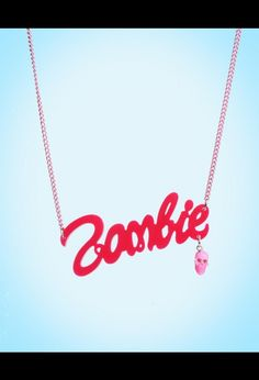 Pink Zombie Necklace from Kreepsville
