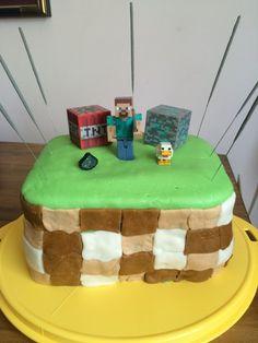 minecraft cake, 3 layers