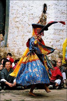festival dance in #bhutan