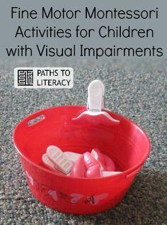 Fine motor Montessori-inspired activities for children with visual impairments