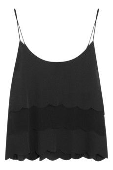 Kate Moss for Topshop Scalloped satin and chiffon camisole | Style yours with the matching shorts