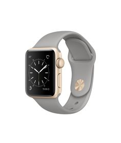Apple Watch - Aluminiumgehäuse, Gold, mit Sportarmband, Beton - Apple (CH)