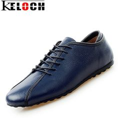 Keloch 2017 New Luxury Brand Men Trend Casual Shoes Leather Shoes For Male  Breathable Lace- d94c4ecdd