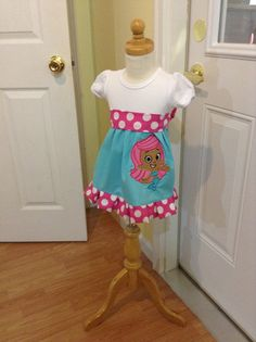 Custom Bubble Guppies Molly tee shirt dress by PickleDotsDesigns, $29.99