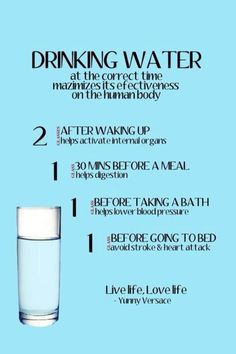 Cant remind you enough to drink plenty of water this is a good schedule