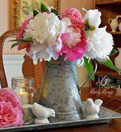 """Lovely Life :: DIY """"Summer Bloom Filled Beautiful Cottage Vignette"""" !"""