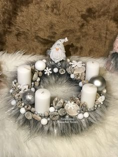 Advent, Christmas Wreaths, Table Decorations, Holiday Decor, Home Decor, Decoration Home, Room Decor, Home Interior Design, Dinner Table Decorations