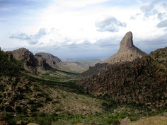 Weaver's Needle, Superstition Mountains, Arizona.     I have this hanging in my home. I took this photograph.