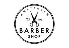 amsterdam barber shop, logo by www.formlab.com