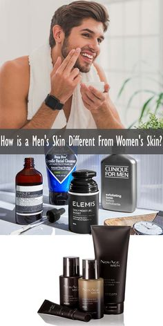 care routine How is a Men's Skin Different From Women's Skin? Best Skincare For Men, Best Skincare Products, Best Face Products, Skin Products, Beauty Products, Skin Care Routine 30s, Skincare Routine, Clinique For Men, Best Face Wash