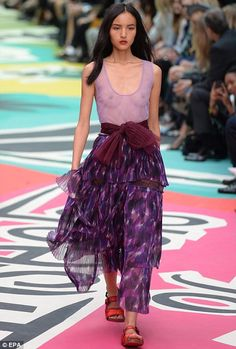 Texturised: Skirts were layered in organza, while blouses came embellished with iridescent...