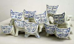 paulagreif:  a clowder of cats