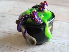 Witches Brew Cauldron-Polymer Clay-Halloween by ~ThePetiteShop on deviantART