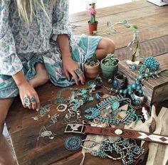 ☮ American Hippie Bohéme Boho Style Jewelry ☮ Turquoise 💙