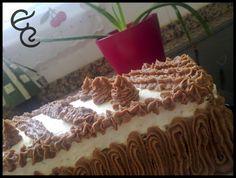 Tarta MSC con crema de chocolate y mantequilla