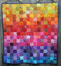 Rainbow I spy quilt-love the colors!