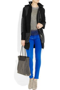 Love the A. Wang tote and bright blue denim