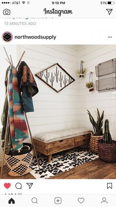 chic decor and southwestern style that rock! - Desert chic decor and southwestern style that rock! -Desert chic decor and southwestern style that rock! - Desert chic decor and southwestern style that rock! - Bench with baskets Unique Bedroom Design And. My New Room, My Room, Southwestern Decorating, Southwestern Home Decor, Southwest Bedroom, Southwest Style, Western Homes, The Design Files, Home And Living