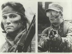 Sonny Landham who played Billy & Shane Black who played Hawkins in #Predator (1987)