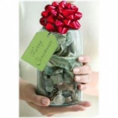 Giving a Christmas Jar, also known as an anonymous money jar to someone in need has become a very popular holiday tradition in recent years after the publication of Jason F. Wright's Christnas Jars.