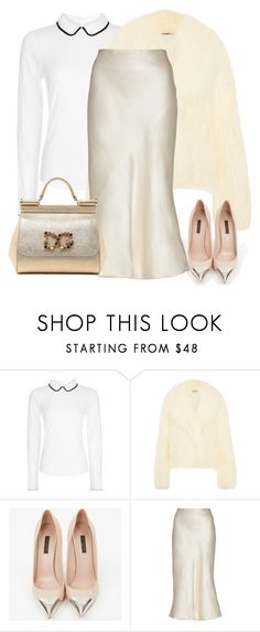 """""""Hobbs Frankie Collar Top"""" by erzebet-1 ❤ liked on Polyvore featuring Hobbs, STELLA McCARTNEY, Louis Vuitton, Theyskens' Theory and Dolce&Gabbana"""